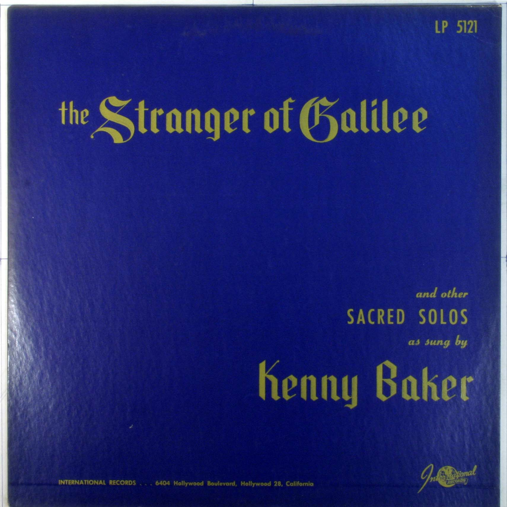 The Stranger Of Galilee And Other Sacred Solos