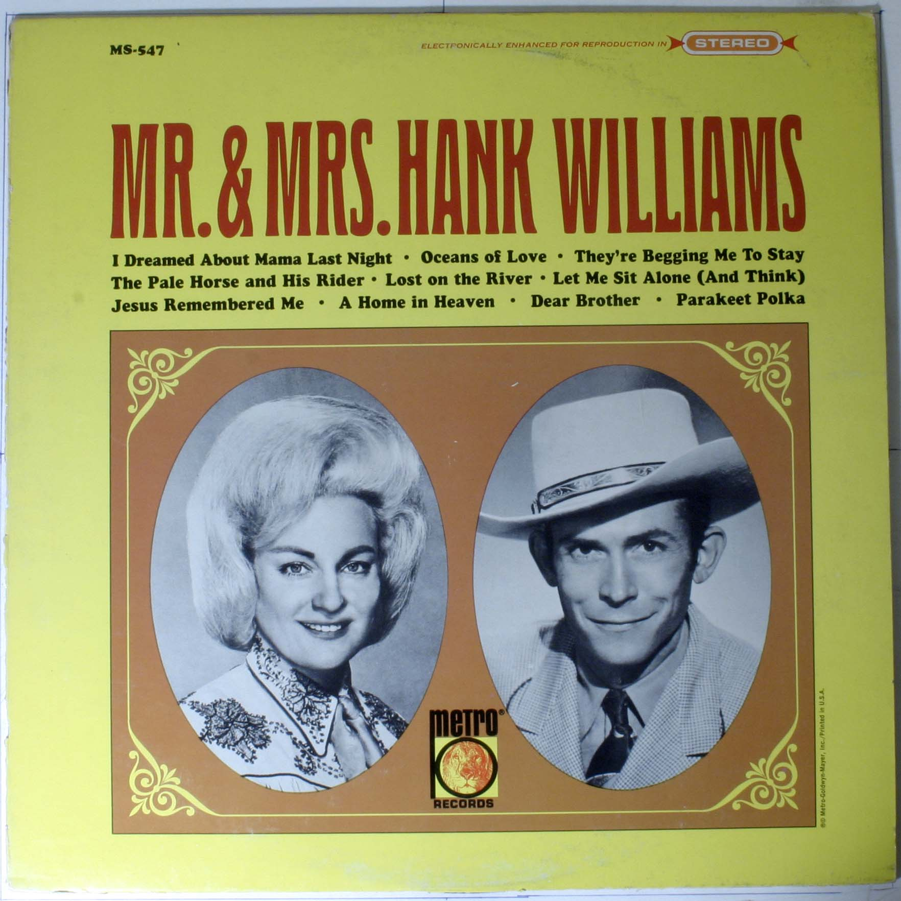 Mr And Mrs Hank Williams