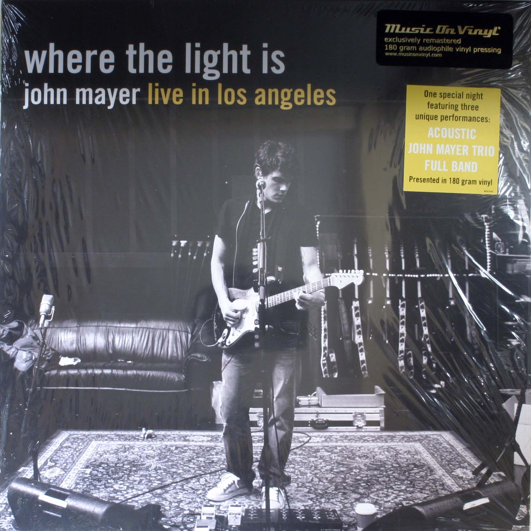 john mayer where the light is records lps vinyl and cds musicstack. Black Bedroom Furniture Sets. Home Design Ideas